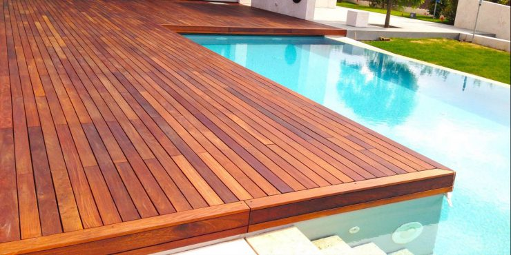 pose d'une terrasse en bois